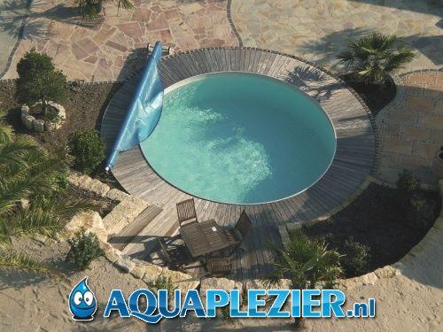 Inbouw zwembad set milano rond 450x150 liner 0 8 mm for Zwembad inbouw