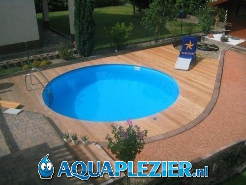 Inbouw zwembad set milano rond 500x120 liner 0 8 mm for Garten pool 6m