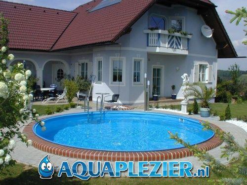 Inbouw zwembad set milano rond 500x135 liner 0 8 mm for Intex zwembad grijs