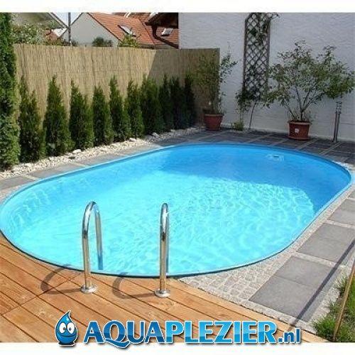 Inbouw zwembad set ovaal 320x525x135 liner 0 8 mm for Zwembad inbouw