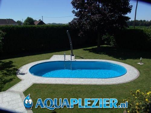 Inbouw zwembad set ovaal 320x600x120 liner 0 8 mm for Zwembad inbouw