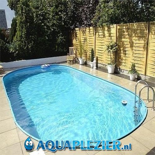 inbouw zwembad set ovaal 350x700x150 liner 0 8 mm